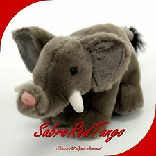 "K&M INTERNATIONAL 2004 STUFFED ANIMAL PLUSH 5"" GREY ELEPHANT"