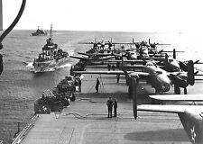 1942-James Doolittle & Doolittle Raiders Ready for Carrier Liftoff of B-25's