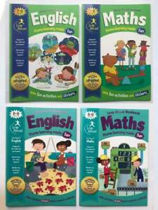 KS2 Maths & English Leap Ahead Home Learning Set of 4 Workbook Age 7-9 Years New