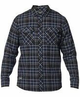 Fox Racing Mens Shirt Blue Size Small S Button Up Plaid Flannel Pockets $59 #041