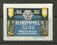Germany/Mainz H HOMMEL GmbH Tools & Machines advertising stamp/label