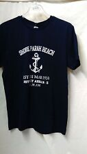 "PARAH Uomo Maglietta BLU T-Shirt Taglia 54 ""SHORE PARAH BEACH"" 100% Cotone (289)"