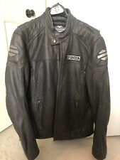 Harley-Davidson Mens Midway Distressed Charcoal Leather Jacket 98108-16VM/000M
