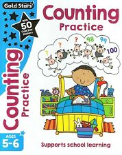 NEW - Gold Stars COUNTING PRACTICE (Ages 5-6) Supports School Learning Book