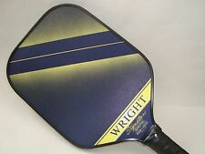 NEW WRIGHT SIGNATURE ELITE PRO PICKLEBALL PADDLE BY ENGAGE LIQUID GRAPHITE BLUE