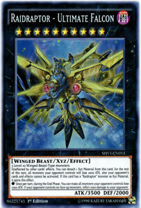 Raidraptor - Ultimate Falcon Super Rare Shining Victories Yugioh Card