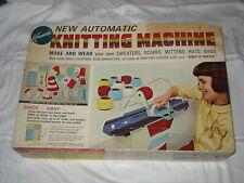 VINTAGE 1966 KENNER'S NEW AUTOMATIC KNITTING MACHINE + BONUS SLIPPERS KIT