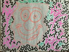 LAII LA2 LAROC Haring collaborator: Classic 1998 Intricate Painting On Paper