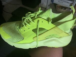 Nike Air Mens size 12.5 Florescent Green Vented Mesh Elastic Strap Heel