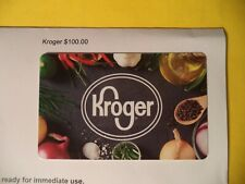 Kroger $ 100 Gift Card