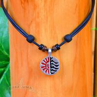 Surferkette Lederkette Herrenkette Damenkette Halsband Surfschmuck Halskette Goa