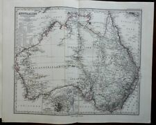 Australia New South Wales Queensland Sydney 1876 Stieler detailed map