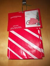 "Huge Gift Bag For Bike / Other Big Gift ~Red & White Stripe ~80""L X 18""W X 39"""