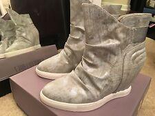 J Lo Jennifer Lopez 7 NEW $89.99 silver wedge boots shoes womens ladies B89