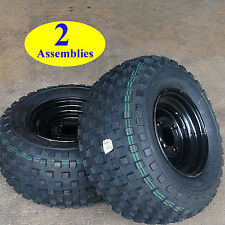 TWO 22 inch tall 22/11-10 22x11-10 Golf Cart Go Kart TIREs RIMs WHEELs 6ply P339