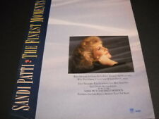Sandi Patti .warm memories of her finest moments.1989 Promo Poster Ad mint