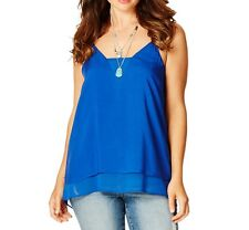 V Insert Flowy Top  Blue Colour Spaghetti Straps Size 12 (Free Post) RRP $40