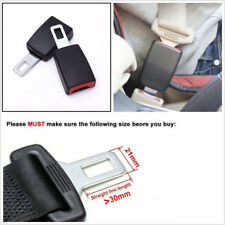 2 Pcs Car Vehicle Seat Belt Socket Extender Metal Seatbelt Tongue Buckles Clips