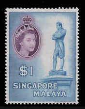 Malaya Singapore 1955 QEII $1 SG 50 mint CV £40 (see description)