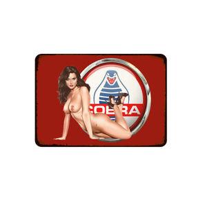 "Sexy Girl Cobra Sign for Wall Home Decor Vintage Metal Tin Retro 11.8"" x 7.8"""