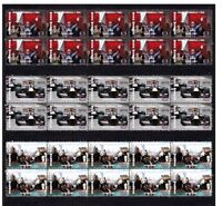 MARK WEBBER 2010 MONACO F1 GP WIN SET OF 3 MINT VIGNETTE STAMPS