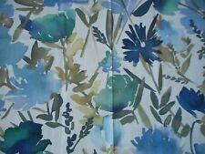 John Lewis & Partners Bloom Furnishing Fabric Blue 1.7m