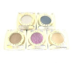 L'Oreal Color Appeal Eyeshadow Assorted Shades Chrome Intensity Rare