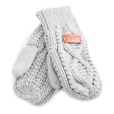 Aran Traditions Womens Ladies Winter Warm Diamond Design Grey Mittens
