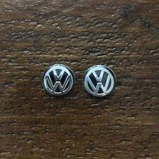 2x VW KEY FOB BADGE LOGO emblème de Remplacement Autocollant Diamètre 14 mm-Vendeur Britannique