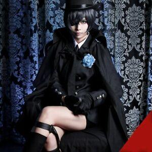 Anime Black Butler Ciel Phantomhive cosplay costume mourner costume