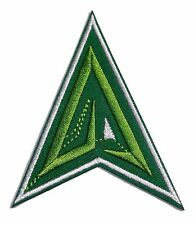 """DC Comics Green Arrow Shield Logo 3 """" Wide Embroidered Iron On Patch"""