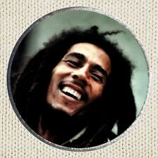 Bob Marley Patch Picture Embroidered Border Ska Reggae The Wailers Jamaica