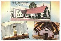Calvary Baptist Church Postcard Kentucky KY Lexington 1955 Posted