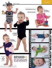 Jalie Baby - 24M size Bodysuit Infant & Preemie Boys & Girls Sewing Pattern 3133