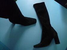bottes noires en daim, souples, Colisée de SACHA t.37
