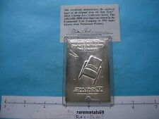 1.1 OZ 1992 STAR TREK V 999 SILVER ART BAR VERY RARE VERY COOL PIECE COA!!