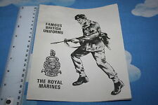 Original Vintage Action Man británicos famosos uniformes los Royal Marines Folleto