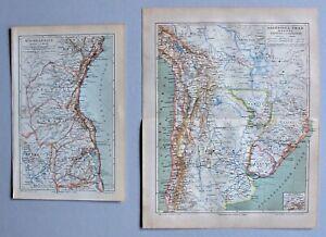 Südamerika Sammlung, Landkarten - 5 Karten 1895-1905