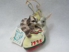 Fitz & Floyd Charming Tails 1995 Annual Ornament Coon & Rabbit 87306 Mib