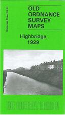 OLD ORDNANCE SURVEY MAP HIGHBRIDGE 1929