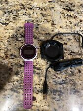 Garmin Forerunner 220 With charger purple/white Clean