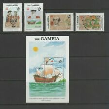 Gambia 1988 Exploration of West Africa, Mint MNH Part Set & Mini Sheet