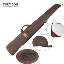 Tourbon Leather Shotgun Case Gun Slip Bags Soft Padded Zippered Carrying Hunting