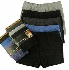 6 Pairs Mens Boxer Plain Underwear Classic Cotton Rich Boxer Shorts S-2XL Jersey