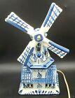 Delft Blauw Holland Hand Decorated Tea Pot Dutch Windmill Blue on White 9.5