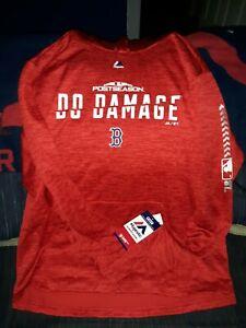 Majestic Boston Red Sox 2018 Postseason Do Damage MLB Hooded Sweatshirt Sz. L