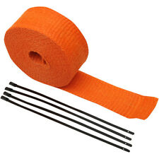 Cinta De Escapes Anticalorica Orange Exhaust Pipe Wrap Incluye 4 Abrazaderas