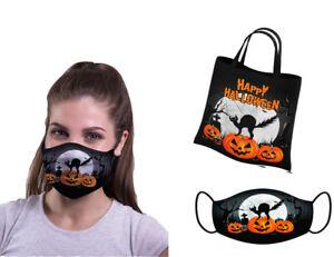 Halloween Party bag & Face mask REUSABLE Trick or Treat Kids Teens Sweet 10+