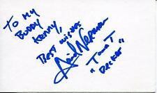 DAVID NERMAN ACTOR IN T AND T & LA FEMME NIKITA SIGNED CARD AUTOGRAPH