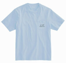 Vineyard Vines T-shirt, Adult Medium, Sky Blue, Whale on the Front Pocket, NWT